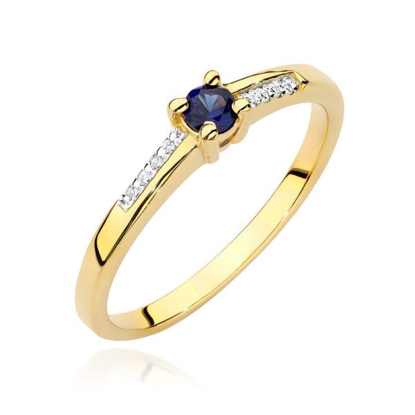 pierścionek szafir