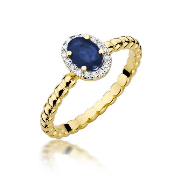 pierścionek z szafirem