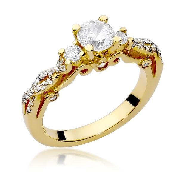 pierścionek z brylantem w-23