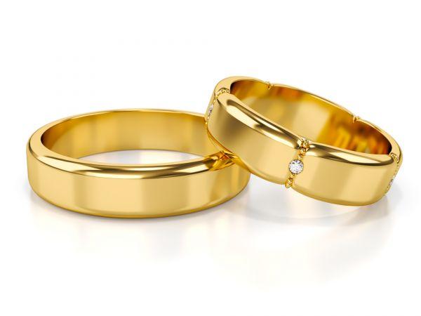 Złote obrączki ślubne - ST-339